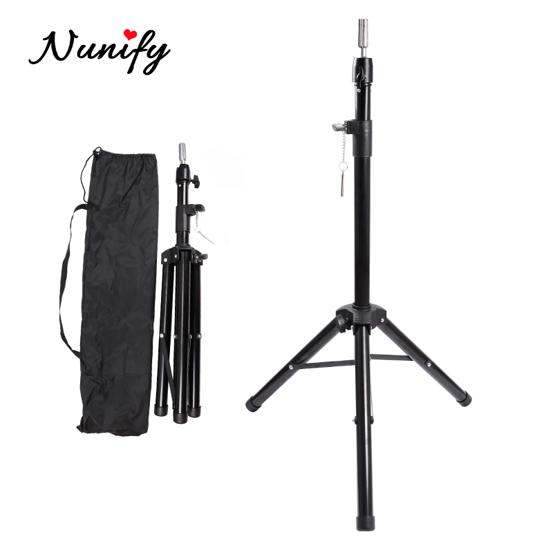 Nunify Tripod Stand Metal Adjustable Wig Stand Cosmetology Hairdressing Training Mannequin Head Stand Tripod Styrofoam Head