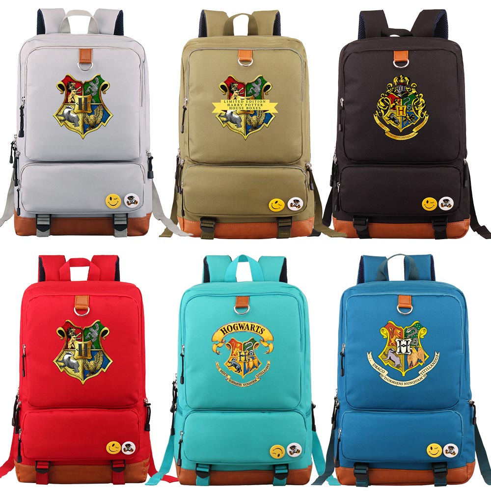 D0304 Magic Hogwarts Snake Lion Eagle Boy Girl Book School Bag Women Bagpack Teenagers Schoolbags Men Student Patchwork Backpack