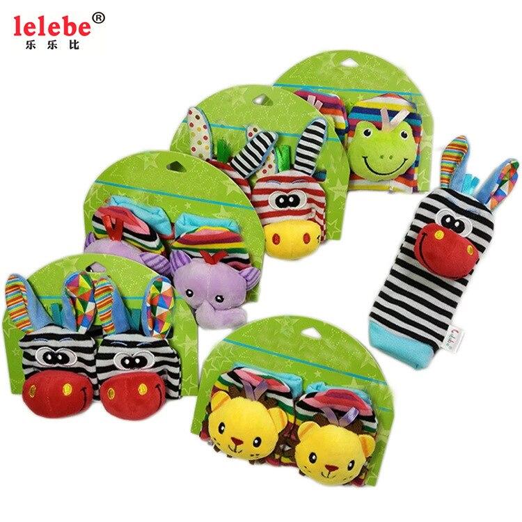Lelebe Baby Watch Band Rattle Socks Wrist Strap Newborn Children Baby Toys 0-1-Year-Old