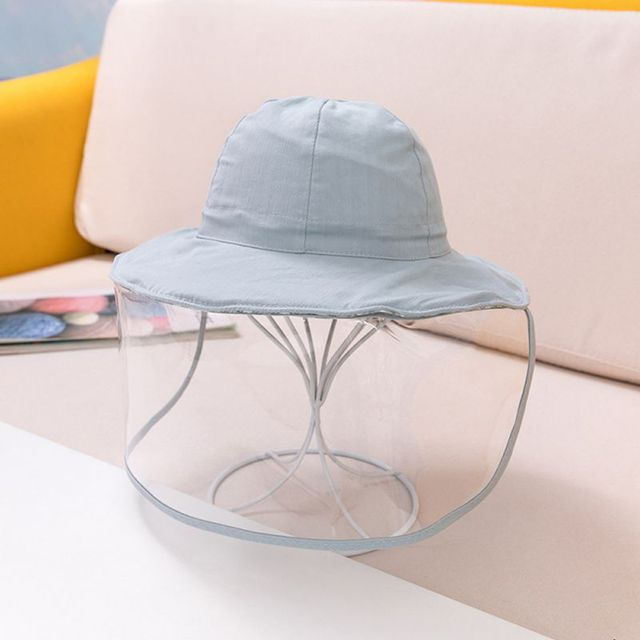 Protective Baby Hat 2020 Kids Bucket Hat for Girls Boys Prevent Wind Sand Spittle Face Mask Kids Cap Child Hats 4