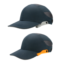 Защитная кепка со светоотражающими полосками, легкая и дышащая жесткая шапка, головной шлем на рабочем месте, шляпа для строительной площадки, Черная