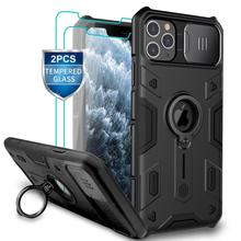 מצלמה הגנה עבור iPhone 11 פרו מקס טבעת stand מקרה, NILLKIN שקופיות כיסוי עבור iPhone 11 6.5 2019 כיסוי עבור iPhone 11 פרו מקרה
