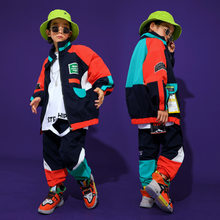 Kids Cool Hip Hop Clothing Top Pullover Pocket Jacket Sweatshirt Running Casual Pants Girls Boys Jazz Dance Costume Clothes Wear(China)