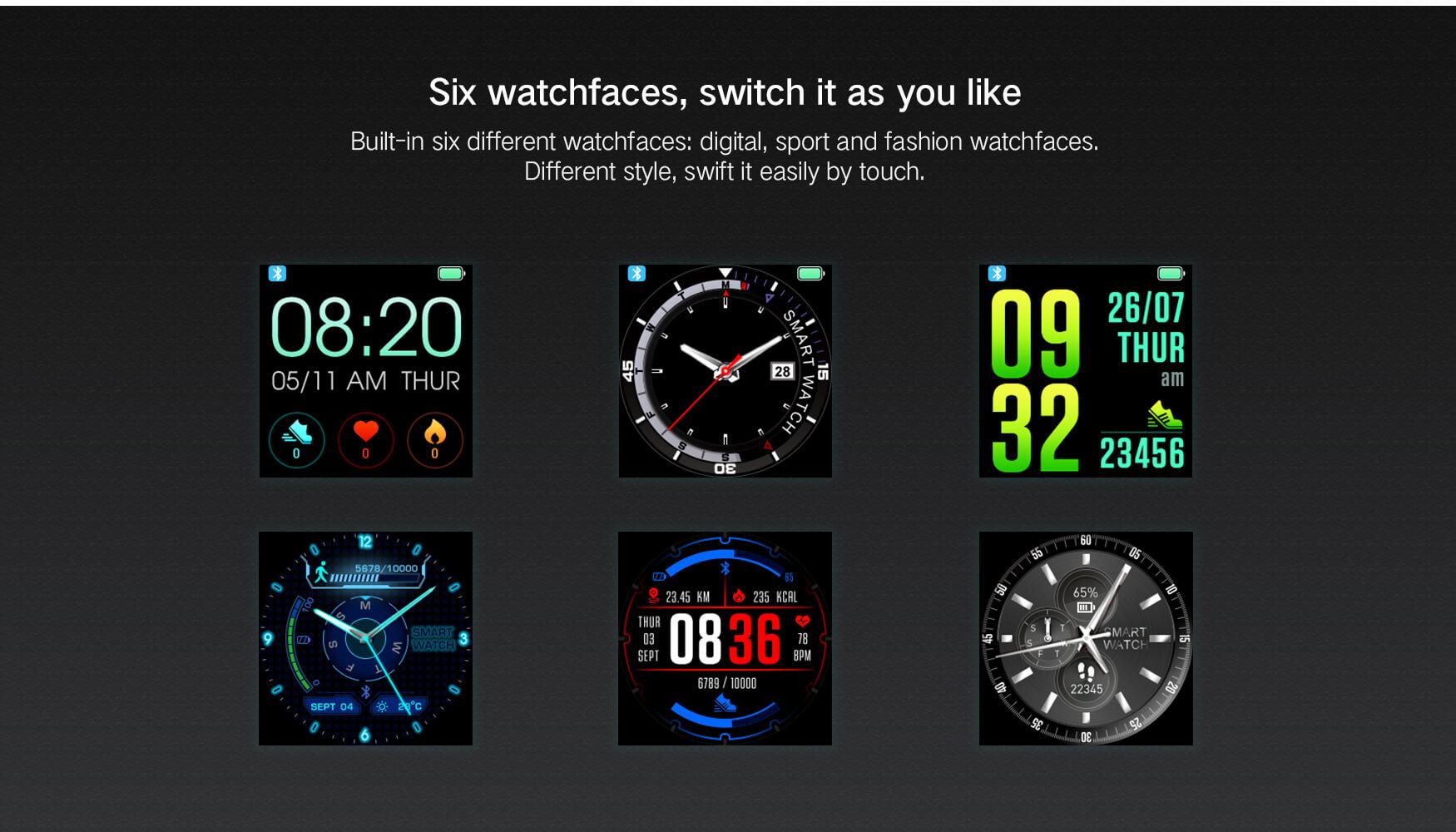 multi-esporte relógios inteligentes relógio android