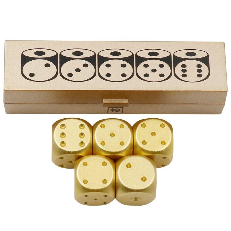 Handmade brass dice metal dice large town mahjong stock dice