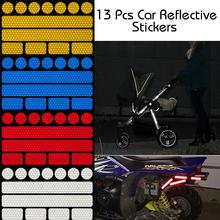Stickers Reflective-Strips Safety Warning Car 13pcs Tape-Bumper Decal Car-Styling