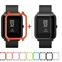 Защитный чехол-накладка+ Защитная пленка для экрана для Xiaomi/Huami Amazfit Bip Youth Watch тонкий цветной Чехол-рамка#25