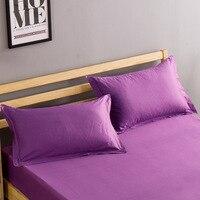 2 piece/Pair Solid Color Pillowcase 48cm*74cm 100% Cotton Pillow Case Cover For Bedroom Use XF686 17|Pillow Case| |  -