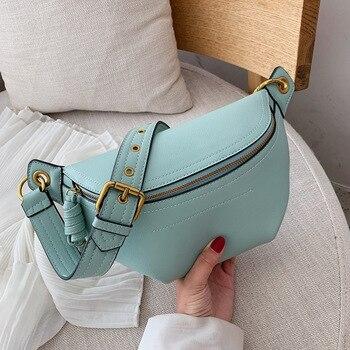 Fashion purse shoulder bags 2020 New chest bag Leather Waist Pack female Belt Bag Designer women fanny pack for women waist bag