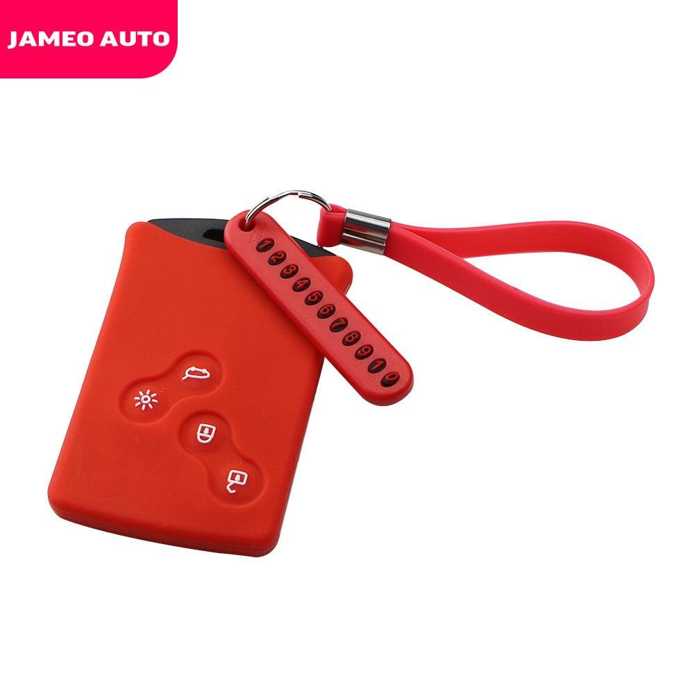 Силиконовый чехол для ключей от машины, чехол для ключей, брелок для телефона с номером, брелок для Renault Clio Logan Megane 2 3 Koleos Scenic Card|Футляр для автомобильного ключа|   | АлиЭкспресс