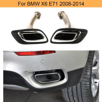 Car Rear Exhaust Tips for BMW E71 X6 2008 - 2013 Auto Exhaust End Tips Tail Muffler Tips image