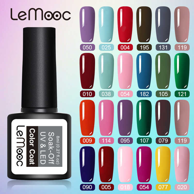 Lemooc 8Ml Gel Nagellak Roze Paars Kleur Serie Uv Led Nagellak Permanant Gel Verf 54 Kleuren Soak off Nail Gel Polish