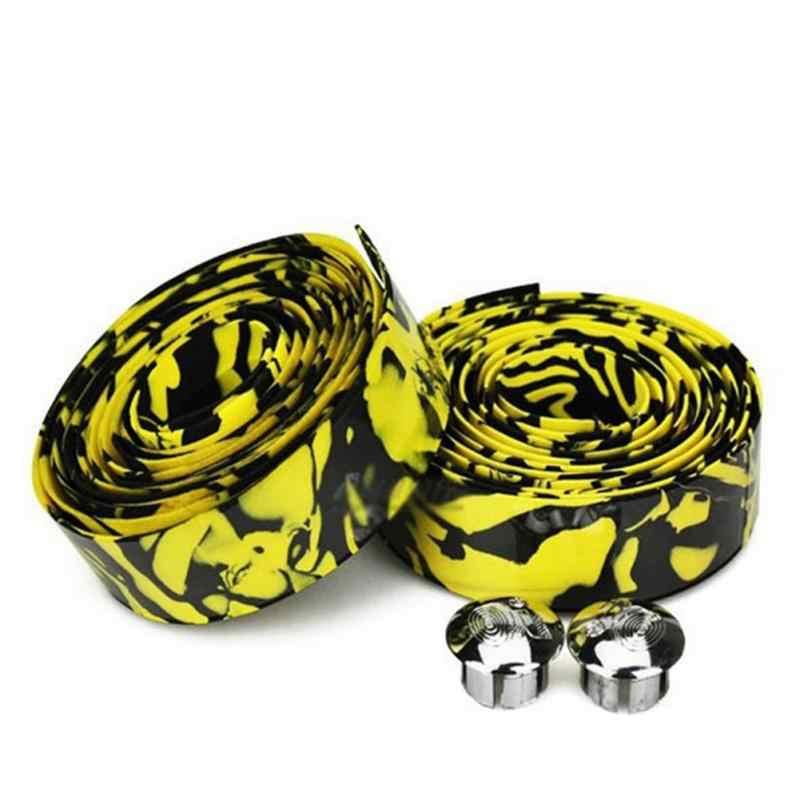 1 Uds. Manillar de bicicleta cinta camuflaje cinturón con asa para ciclismo bicicleta corcho antideslizante manillar cinta envolver bicicleta accesorios envío gratis