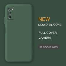 Новый чехол из жидкого силикона для телефона samsung Galaxy s20 FE Fan Edition s20FE, оригинальный мягкий защитный чехол-накладка для камеры