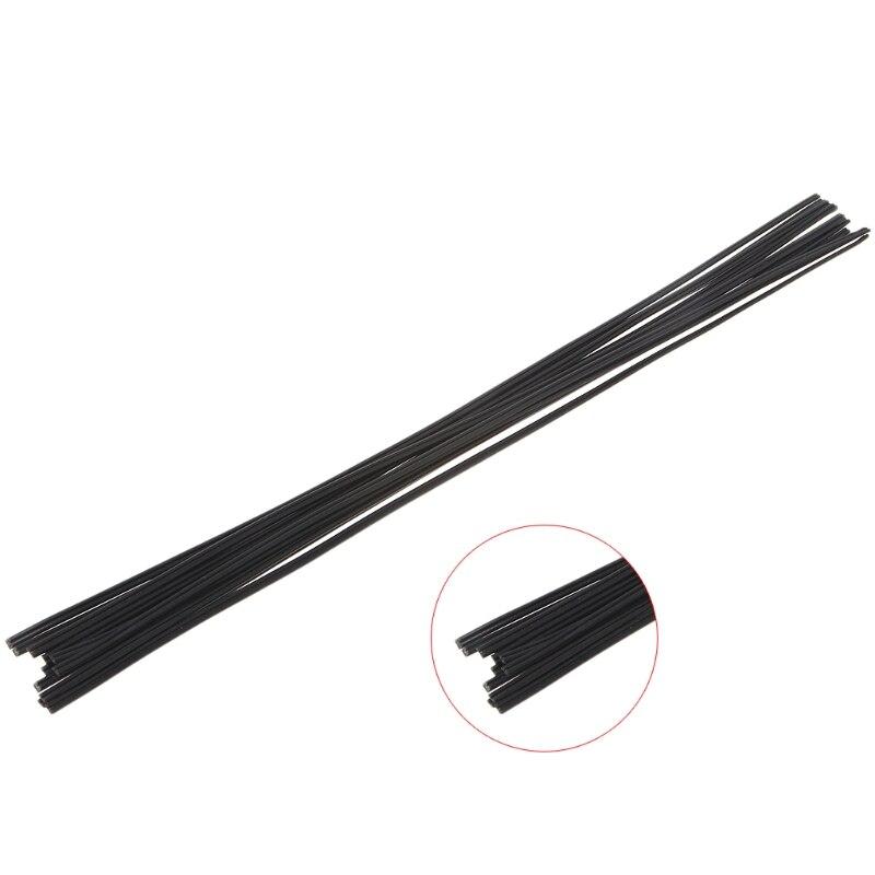 12Pcs/Set Plastic Welding Rod Black PP Floor Welding Rod Automobile Welding Tool 50cm