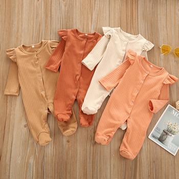 Kombinezon Romper ubrania dla niemowląt dla noworodków noworodek Boys Baby dziewczyny stałe dzianiny piżamy piżamy Romper kombinezon детские tanie i dobre opinie CN (pochodzenie) W wieku 0-6m 7-12m 13-24m 25-36m Unisex 0-3 miesięcy 4-6 miesięcy 7-9 miesięcy 10-12 miesięcy 13-18 miesięcy