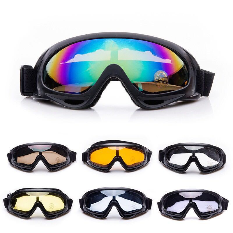 Skiing Goggles Snow Sports Anti-fog Snowmobile Windproof Glasses Skate Ski Sunglasses Anti Dust Saliva Protective Safety Glasses