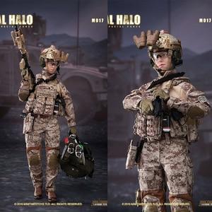Minitimes toys (M017), 1/6, US Navy SEALs, HALO, equipo de combate, soldado femenino, fuerzas especiales, 12 pulgadas, soldado femenino