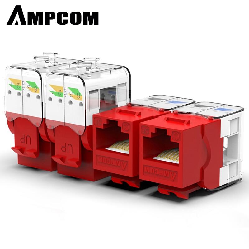 Устройство AMPCOM 10 шт. в упаковке с разъемом для ключей, CAT5e, без инструментов RJ45 UTP, с разъемом для ключей, без перфоратора, требуемый модуль для...