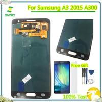 100% протестированный 4,5 ''TFT ЖК-дисплей кодирующий преобразователь сенсорного экрана в сборе для Samsung Galaxy A3 2015 A300 A3000 A300F A300M