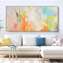Decorativas wall art canvas painting Laminas de cuadros pared oil paintings handmade tableau abstrait decoration painting wall(China)