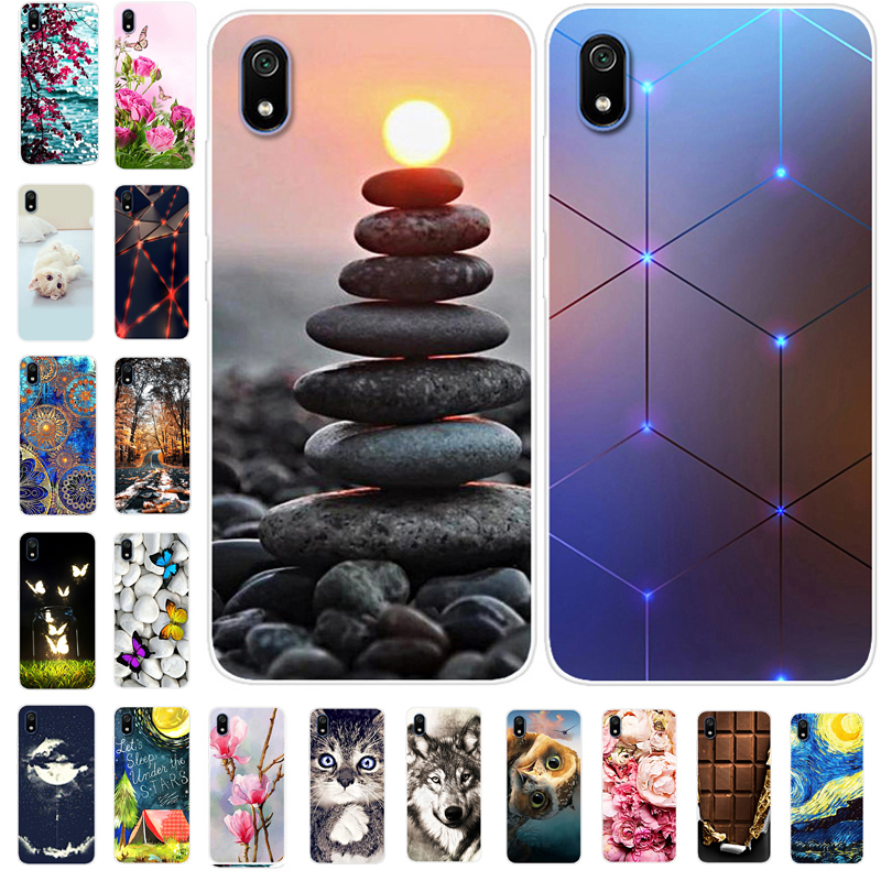 For Xiaomi Redmi 7A Case Silicone Soft Phone Cases For Xiaomi Redmi 7A Case 5.45'' On Redmi 7 A Redmi7A A7 TPU Back Cover Cool