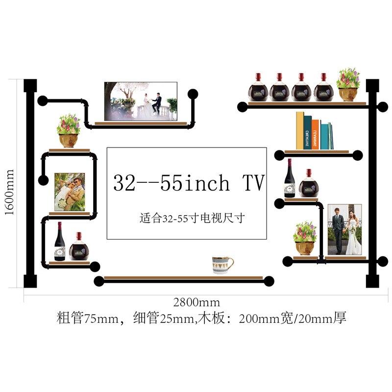 Antique Design Wine Rack Made Of Pine Wood And Iron Pipe\\\\\\\\Audio Shelf Rack Home Media Component Shelf Rack TV Cabinet