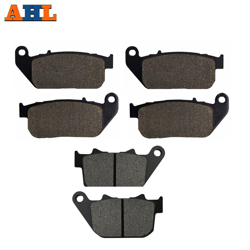 AHL Brake-Pads Roadster Motorcycle Harley-Xl883r XL1200R 2004-2008 Rear Front for Xl1200r/Roadster/2004-2008/.. title=