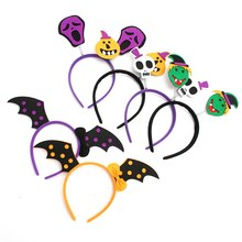 Adult Children Kids pumpkin Bat wings Hair Hoop Cloth Wrapped Elastic Headband Halloween Christmas Party Costume Cosplay Headwea(China)