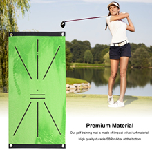 Golf Swing Mat Swing Detection Batting Training Golf Swing Path Crystal Super Soft Golf Swing Training Pad With Fixed Nail