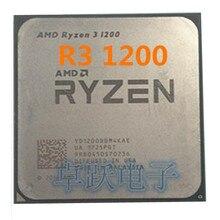 Amd ryzen R3 1200 cpuプロセッサクアッドコアソケットAM4 3.1 2.4ghz 10 メガバイトtdp 65 ワット