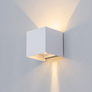 Image 5 - Einstellbar Wand Licht 6W LED Indoor Outdoor Aluminium Wandleuchte Oberfläche Montiert Cube Wand Beleuchtung außerhalb Garten Wand Lampe