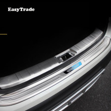 Car Rear Door Sill Plate Protector Anti-Scuff Trunk door sill Stainless steel Rearguard For Nissan Qashqai 2019 Accessories недорого