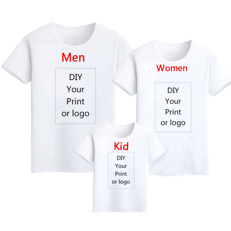 Customized Print T Shirt Men's DIY Your Like Photo Or Logo White Top Tees Women's And Kid's Clothes Modal T Shirt Size S-3XL
