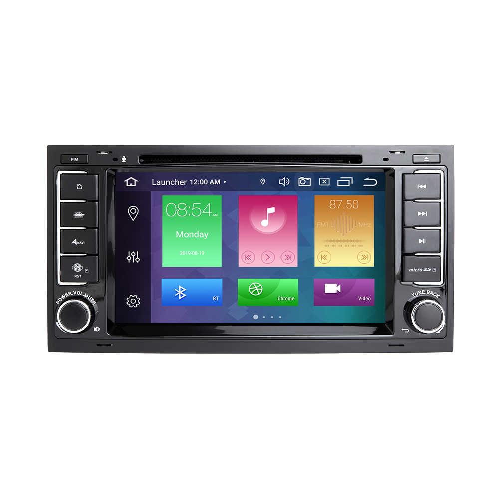Ips dsp 4 ギガバイト 64 ギガバイト 2 ディンアンドロイド 10 車の dvd プレーヤー vw/フォルクスワーゲン/トゥアレグ/トランスポーター T5 2004-2011 マルチメディア gps ラジオ 8 コア