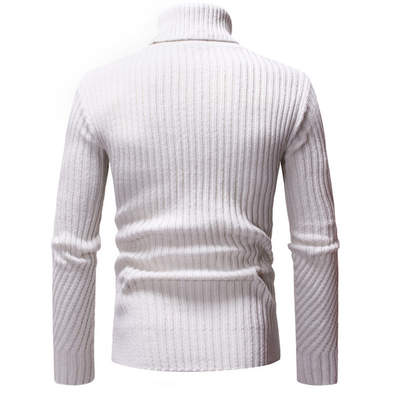 New Autumn Winter Fashion Brand Clothing Men's Sweaters Warm Slim Fit Turtleneck Men Pullover  Knitted Sweater Men