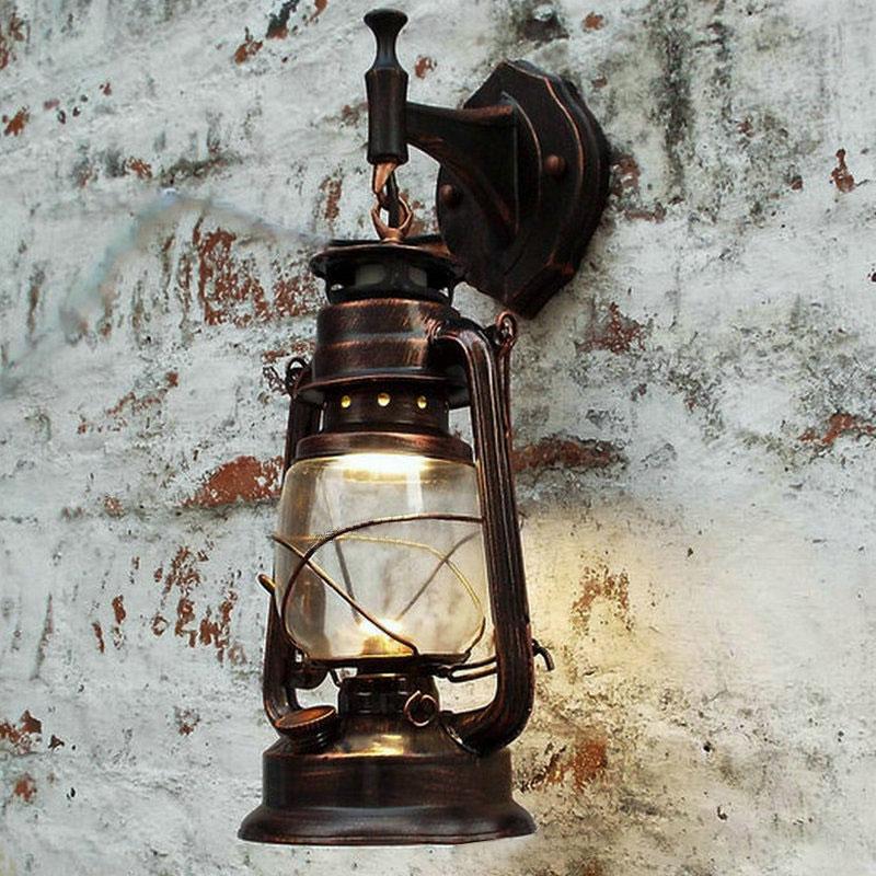 european retro retro retro europeu conduziu a lampada de parede lampadas querosene do vintage luminaria para