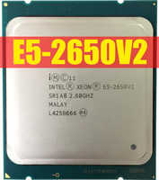 Intel Xeon Processor E5-2650 V2 E5 2650 V2 CPU 2.6 LGA 2011 SR1A8 Octa Core Desktop processor e5 2650V2 used Original