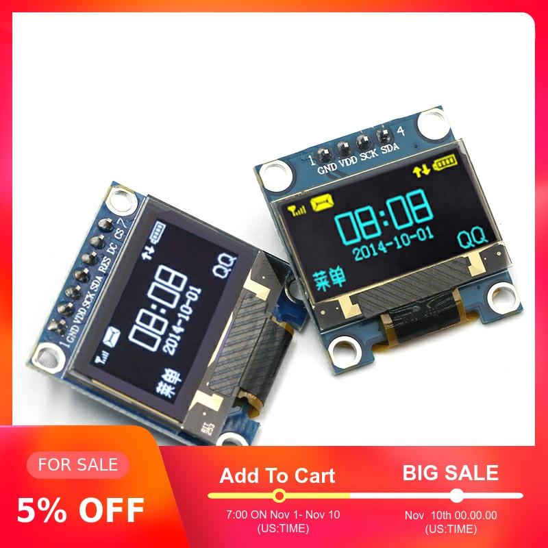 0,96 zoll IIC Serien Gelb Blau OLED Display Modul 128X64 I2C SSD1306 12864 LCD Screen Bord GND VCC SCL SDA 0,96