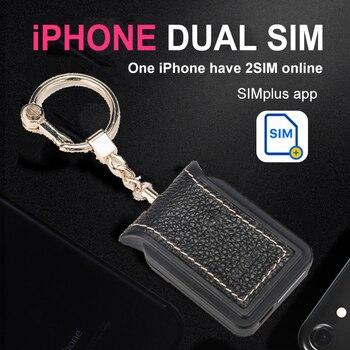 Teléfono Dual Sim Adaptador fuga iOS 13 llamar las funciones de texto para iPhone5/6/7/8 x/XS max/6th Pod Touch/Pad