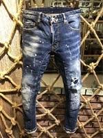 19SS STYLEZ New design decoration Korean trendy men's fashion wild feet jeans men