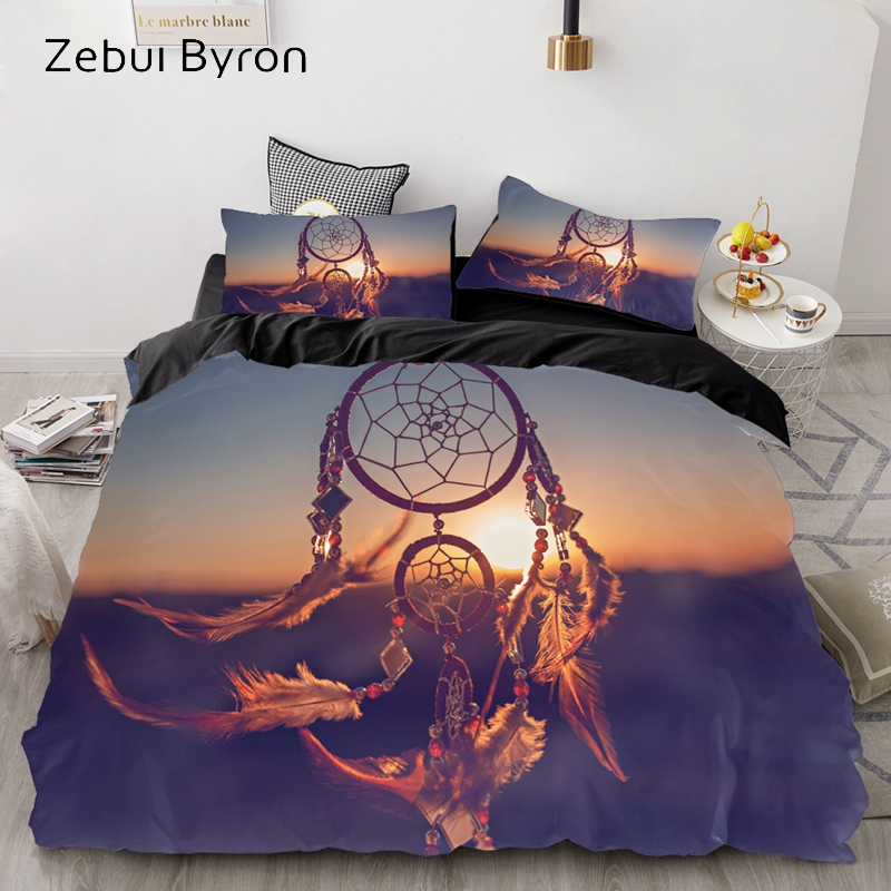 3D Beautiful Dream Catcher Quilt Cover Set Bedding Duvet Cover Single//Queen//King