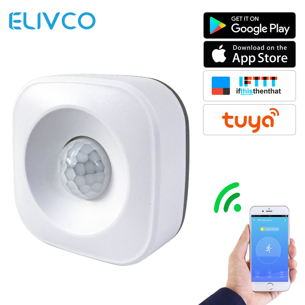 Smart WiFi PIR Motion Sensor Human Body Infrared Sensor Alarm Detector APP Remote Control Works With IFTTT Smart Home Automation