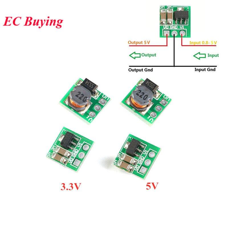 5 pces DC-DC 0.9-3.3 v a 3.3 v 500ma 0.9-5 v a 5 v mini intensificam o módulo de potência do impulso dc para dc para o módulo do conversor de tensão de arduino