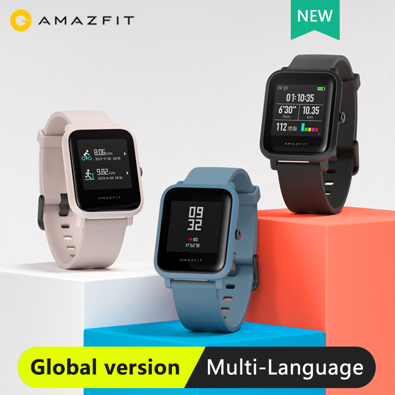 Amazfit Monitor Battery Sport-Watch Bip-Lite Digital Life-3atm Global-Version Water-Resistance-Heart-Rate