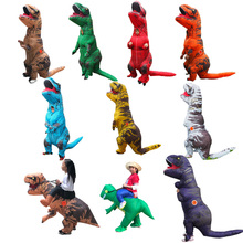 Inflatable Kids Dinosaur T REX Costumes Blow Up Fancy Dress Anime Mascot Cosplay Costume For Girls t rex Dino Cartoon
