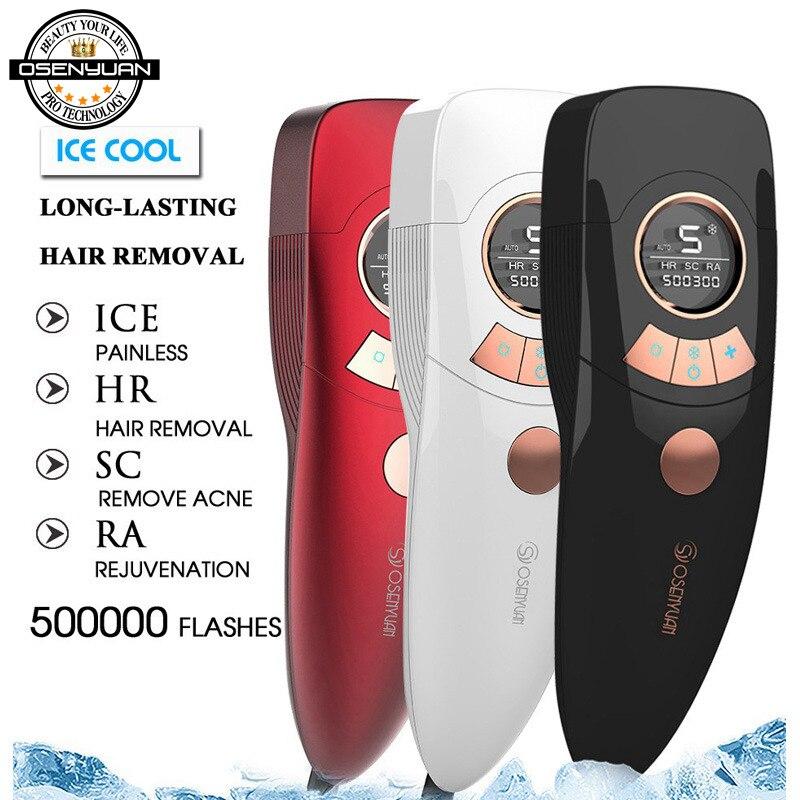 Image 5 - Новый IPL эпилятор для удаления волос, холодный ледяной эпилятор, перманентное лазерное удаление волос, домашний Триммер бикини, Электрический фотоомоложение, депиляторЭпиляторы    АлиЭкспресс