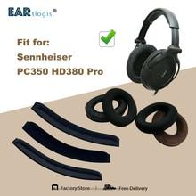 交換用イヤーパッドゼンハイザーPC350 HD380プロセット革耳あてイヤホンスリーブカバー