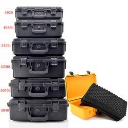 Toolbox große multi-zweck sicherheit instrument box wasserdicht stoßfest outdoor ausrüstung werkzeug fall mit Pre-cut Schaum Futter