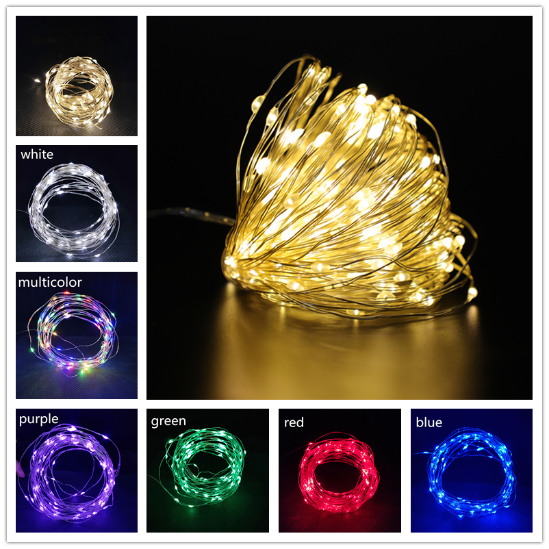 Christmas Decorations for Home 1M/2M/3M/5M/10M LED String Light Flash Fairy Garland Happy New Year 2021 Noel kerst Navidad 2020